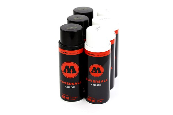 MOLOTOW CoversAll 400ml - 6er Sparpack Black-White