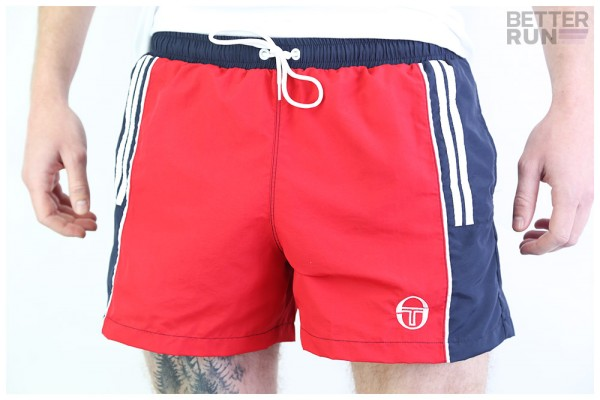 Sergio Tacchini Hose - Cyprus Swim Shorts - Red Navy