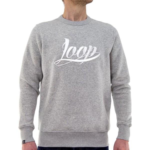 Loopcolors x Wrung - LOOP Crewneck Sweater - Heather Grey