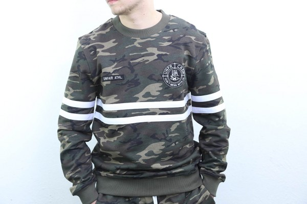 Unfair Athletics Sweatshirt - DMWU Crewneck Jungle - Camo