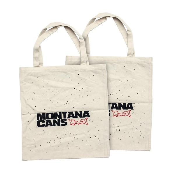 Montana Cans Stoffbeutel - Typo Logo Stars - Natural
