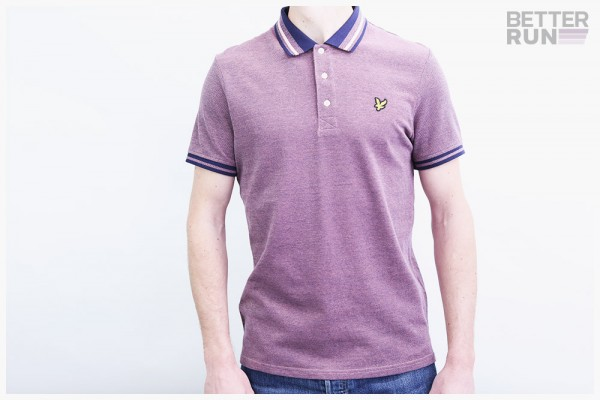Lyle & Scott Polo Shirt - Oxford Tipped Polo - Lachs Navy