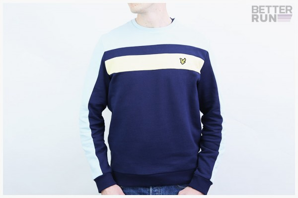 Lyle & Scott Pullover - Color Block Sweatshirt - Navy