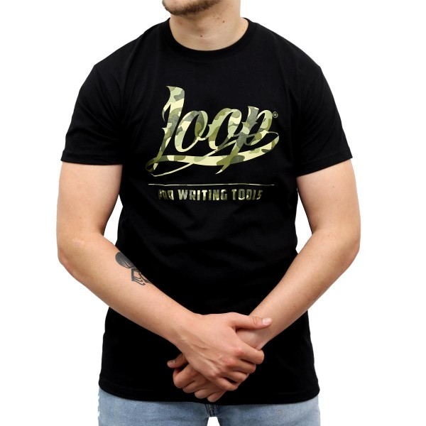 Loopcolors Shirt Logo Camouflage - Black