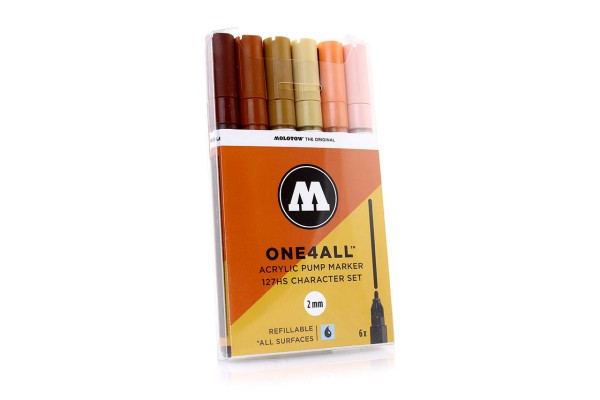 MOLOTOW ONE4ALL Marker 6er Set - 127HS Character Set
