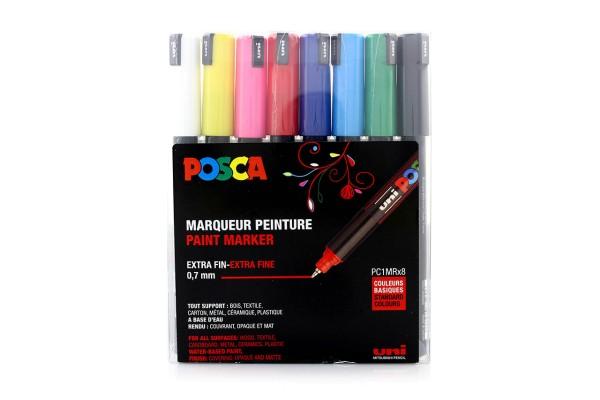 Posca Marker Set PC-1MRx8 Standard Colours