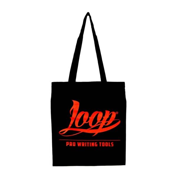 Loopcolors Stoffbeutel Logo Red Loop - Schwarz Rot