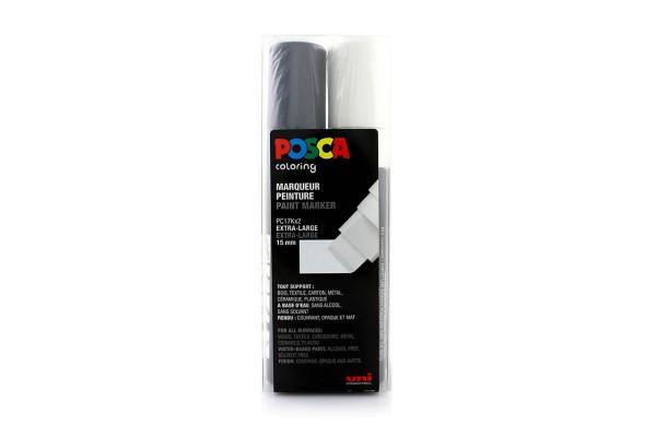 Posca Marker Set PC-17Kx2 Black and White