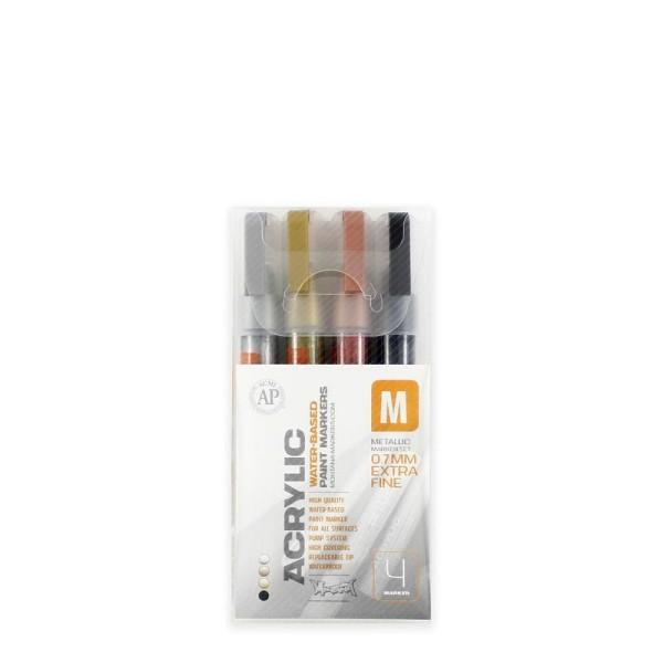 Montana Acrylic Marker 4er Set - 0,7mm