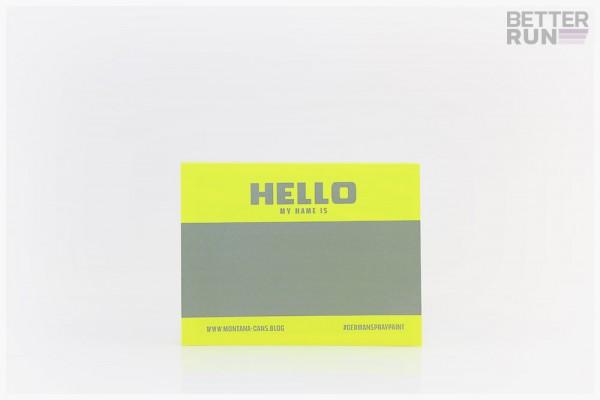 Montana Hello My Name Is Logo Sticker 100 Neon Yellow