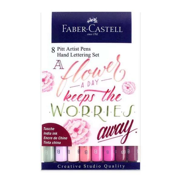 Faber-Castell Pitt Artist Pens Hand Lettering Pinktöne 8er Set