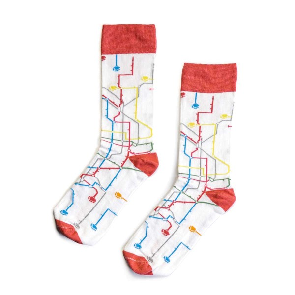 MTN Metro Socks - White Size 41-45