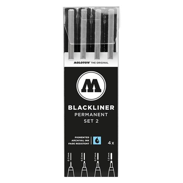 MOLOTOW Blackliner Marker 4er Set - Permanent Set 2