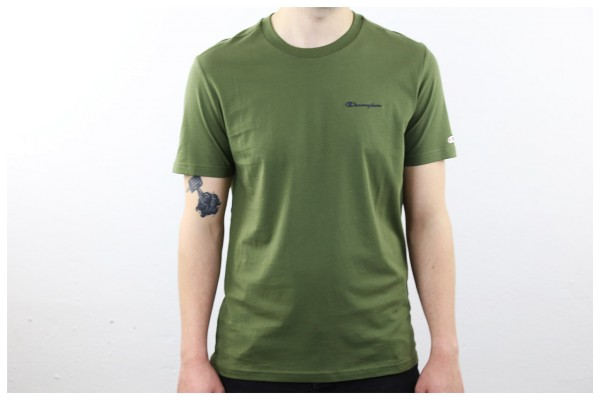Champion Shirt - Crew Neck T-Shirt - Khaki