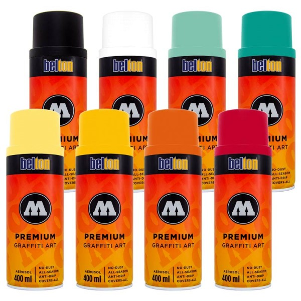 Molotow Premium 400ml - 8er Sparpack Sommer