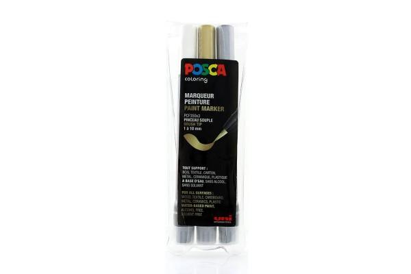 Posca Marker Set PCF-350x3 Metallic