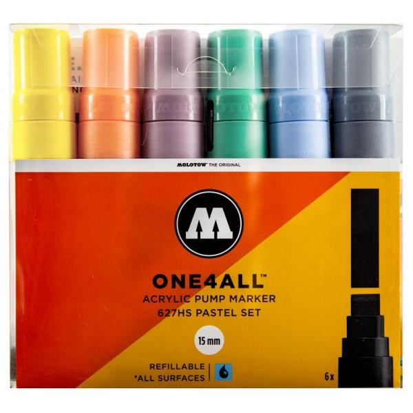Molotow One4All Marker 6er Set - 627HS Pastel Set