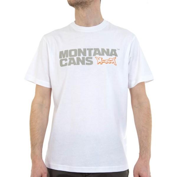 Montana T-Shirt Typo+Logo - Weiß