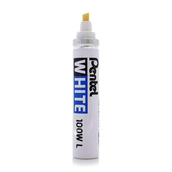 PENTEL X100WL Marker WHITE 3,0mm - 6,0mm Keilspitze