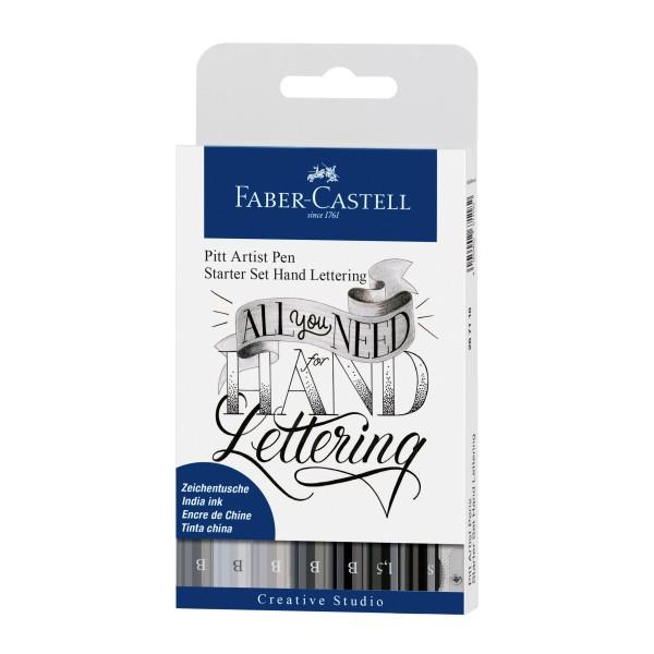 Faber-Castell Pitt Artist Pen Hand Lettering Starter 9er Set