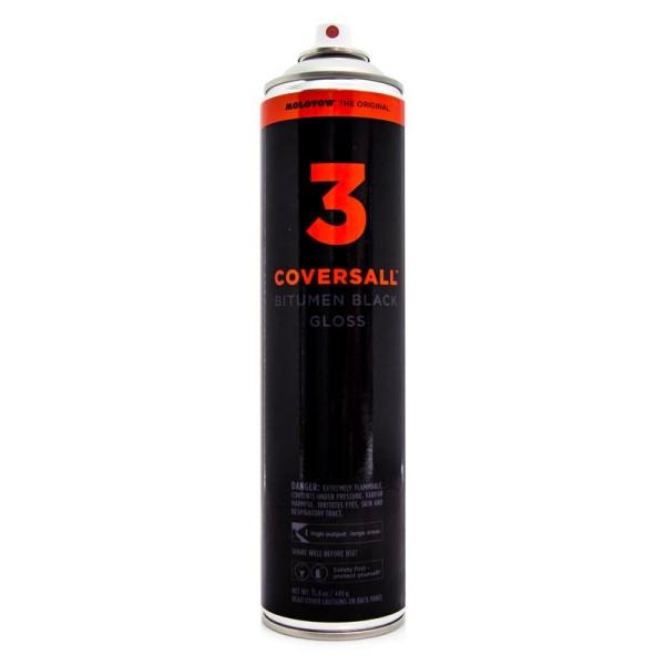 MOLOTOW COVERSALL3 Bitumen Black Gloss 600ml