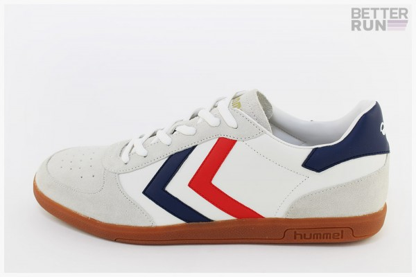 Hummel Sneaker - Victory Leather - White - Lt. Grey - Blue - Red - Gum