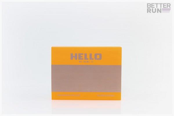 Montana Hello My Name Is Logo Sticker 100 Neon Orange
