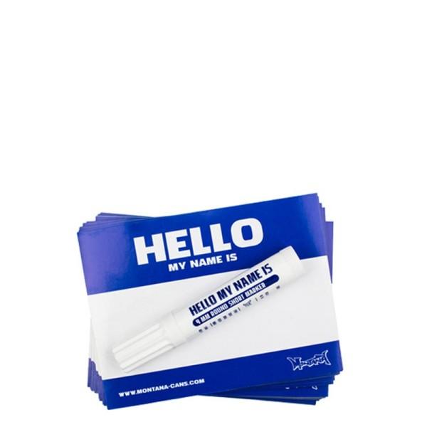 Montana Hello My Name Is Logo Sticker 100er - Blau