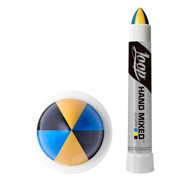 LOOP x Hand Mixed Marker Azurri Pro - Schwarz Gelb Blau