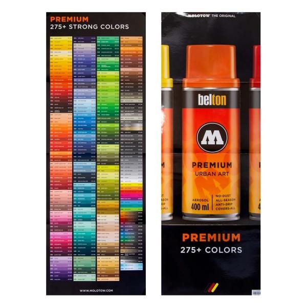 Molotow Premium XL Colorchart