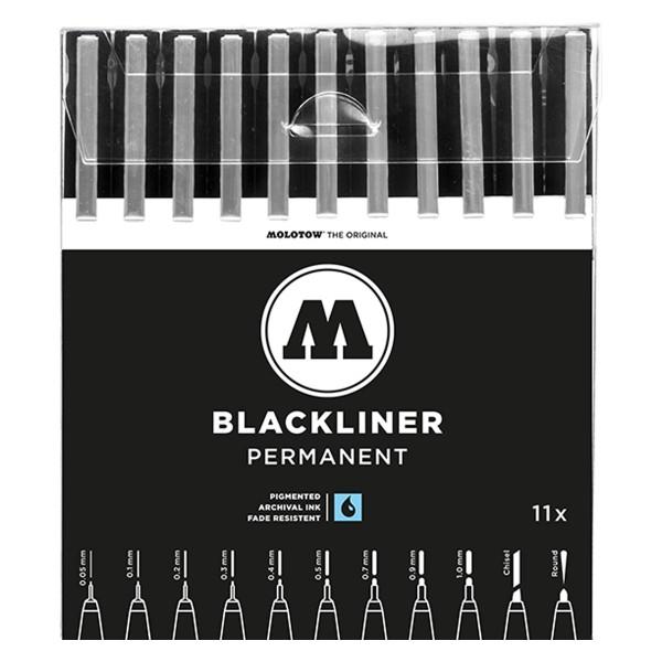 MOLOTOW Blackliner Marker 11er Set - Permanent Set Complete