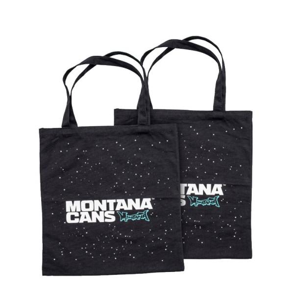 Montana Cans Stoffbeutel - Typo Logo Stars - Black