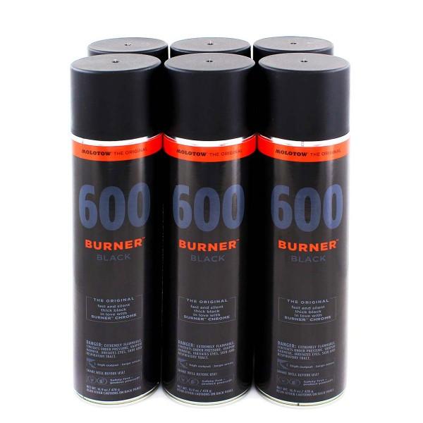 MOLOTOW Burner 600ml - 6er Sparpack Black