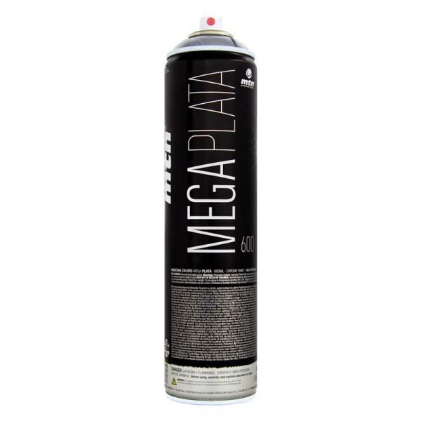 MTN Cans Mega Plata Silver 600ml - Chrome