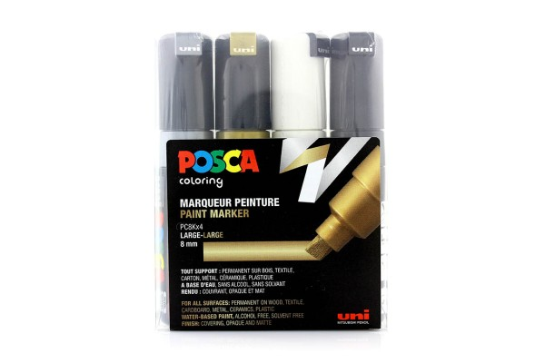 Posca Marker Set PC-8Kx4 Metallic Colours