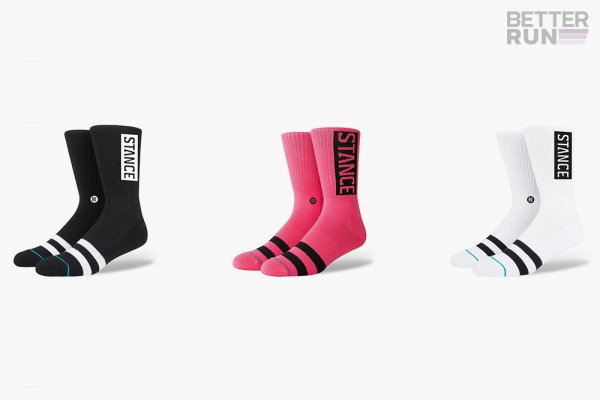 Stance Socks - Uncommon Solids OG - Black - Pink Neon - White