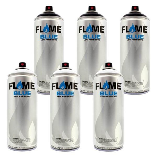 Flame Blue 400ml - 6er Sparpack Schwarz Weiss