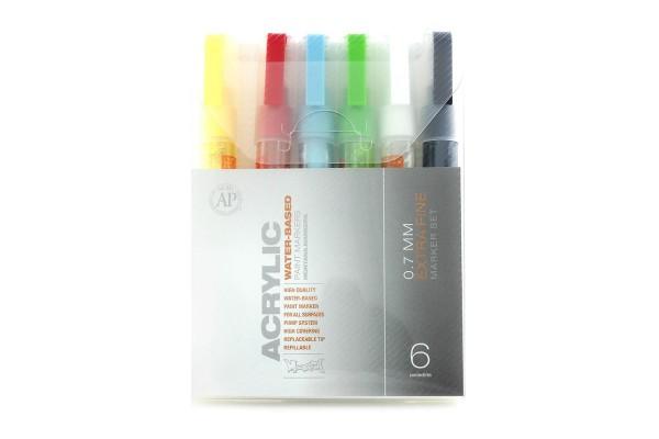 Montana Acrylic Marker 6er Set - 0,7mm