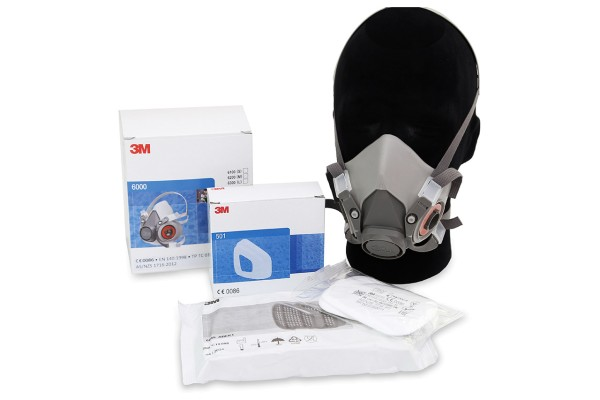 3M Atemschutz Halbmaske 6200M Set