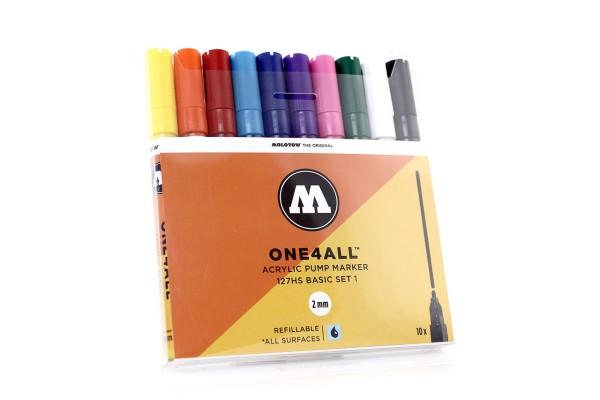 MOLOTOW ONE4ALL Marker 10er Set - 127HS Basic Set 1