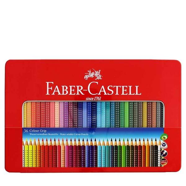 Faber-Castell Colour Grip Buntstift Metalletui 36er Set