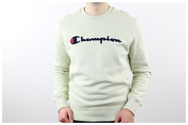 Champion Pullover - Crew Neck Sweatshirt - Light Green