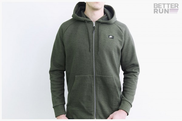 Nike NSW Jacke - Fleece Zip Hoodie - Dark Green