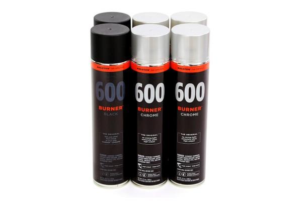 MOLOTOW Burner 600ml - 6er Sparpack Chrome Black