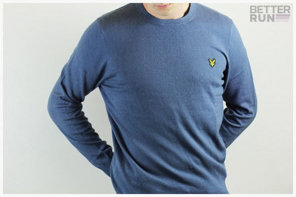 Lyle & Scott - Cotton Merino Crew Neck Jumper - Indigo Blue
