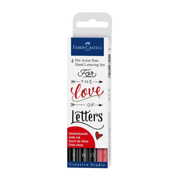 Faber Castell 4er Pitt Artist Pens Hand Lettering Set