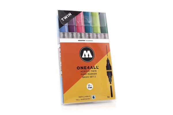 MOLOTOW ONE4ALL Twin - Basic Set 2