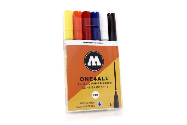 MOLOTOW ONE4ALL Marker 6er Set - 127HS Basic Set 1