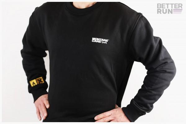 Montana Sweater Typo+Logo - Schwarz