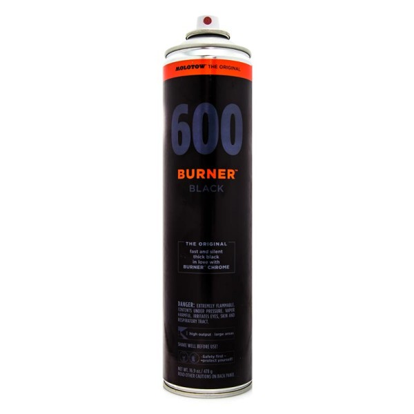 Molotow Burner Black 600ml - Schwarz